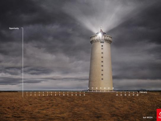 Toyota Print Ad -  Lighthouse