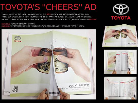 Toyota Print Ad -  Cheers!