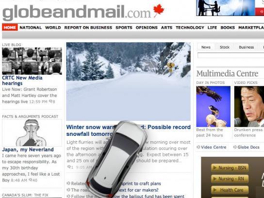 Toyota Digital Ad -  Snowy road