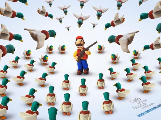 www.trabajando.com Print Ad -  Hunter