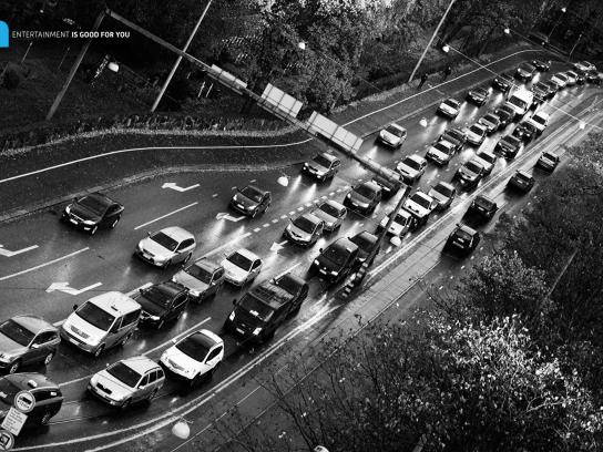 Nelonen Print Ad -  Daily traffic jam