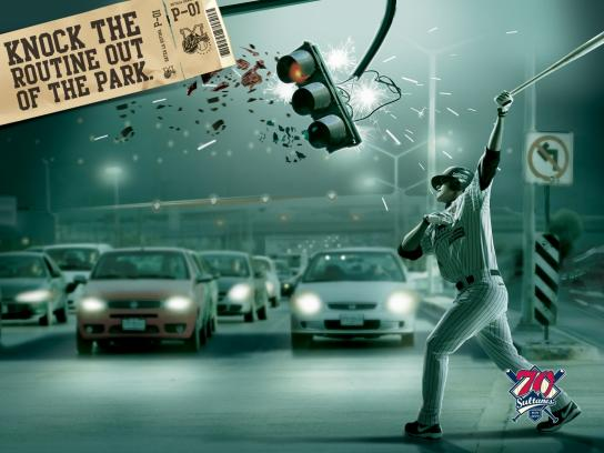 Sultanes Print Ad -  Knock the Routine out of the Park, Traffic