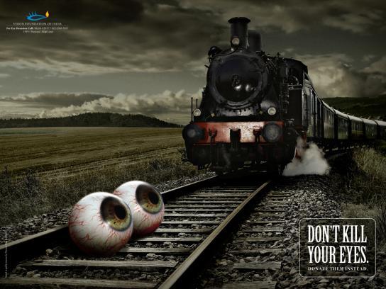 Vision Foundation of India Print Ad -  Train