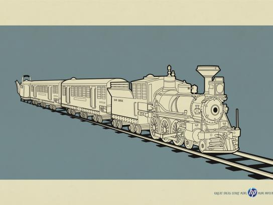 HP Print Ad -  Mini evolution, Train
