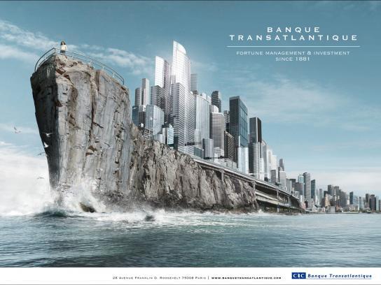 Banque Transatlantique Print Ad -  Town