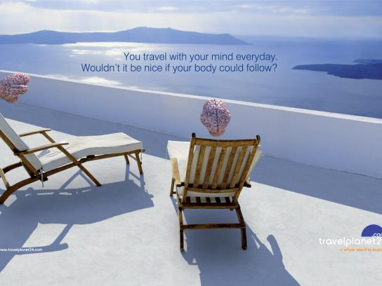 Travel Planet 24 Print Ad -  Santorini