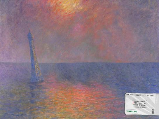 Travelart Print Ad -  Paris - Monet