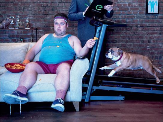 EnergyAustralia Print Ad -  Treadmill