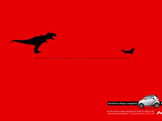 Smart Print Ad -  Evolution always compacts, T-Rex