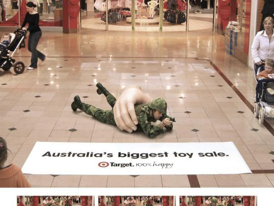 Target Ambient Ad -  Big Toy Sale, Soldier