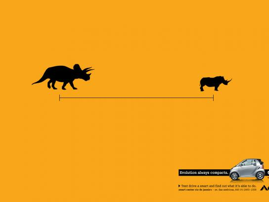 Smart Print Ad -  Evolution always compacts, Triceratops