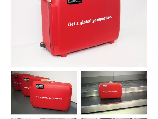 Griffith University Ambient Ad -  Trojan Suitcase