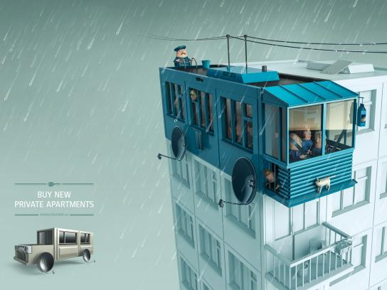 Morton Print Ad -  Trolleybus