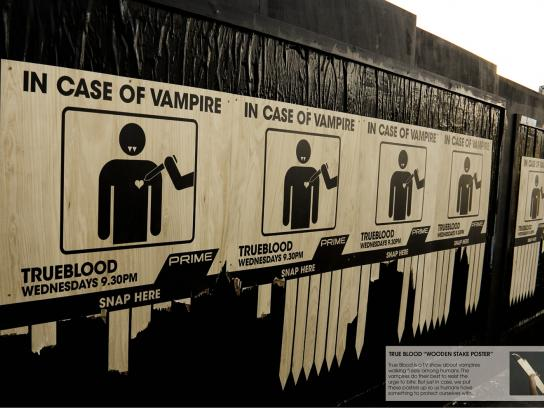True Blood Ambient Ad -  Wooden stick