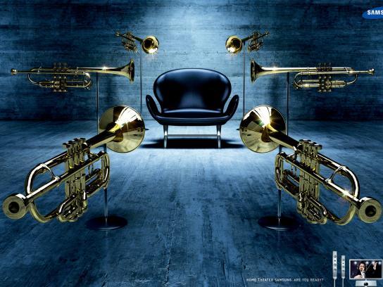 Samsung Print Ad -  Trumpets
