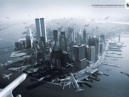 WWF Print Ad -  Tsunami