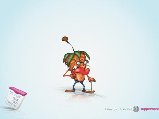 Tupperware Print Ad -  Strawberry