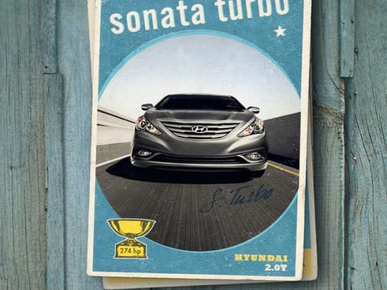 Hyundai Print Ad -  Sonata Turbo Card