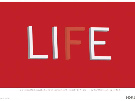 Turn Print Ad -  Life
