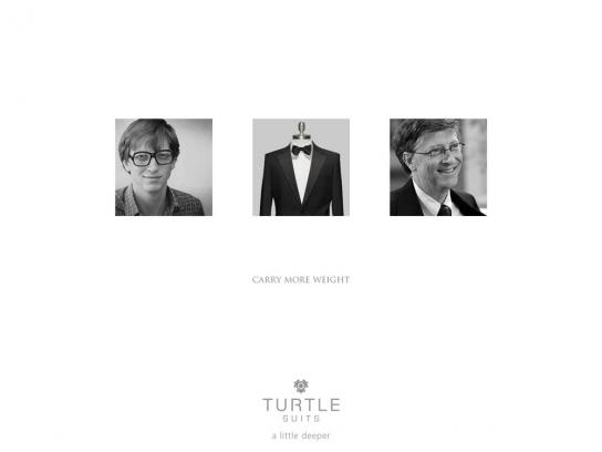 Turtle Print Ad -  Carry more weight, 2