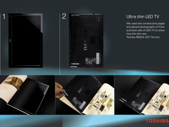 Toshiba Print Ad -  Ultra thin