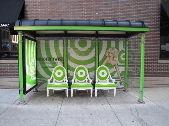 Absolut Outdoor Ad -  Twist bus stop