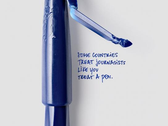 Reporters Without Borders Print Ad -  Twisted