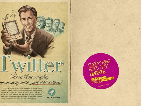 Maximidia Print Ad -  Vintage Twitter