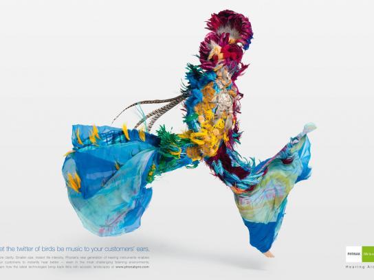 Phonak Print Ad -  Spice, Twitter of Birds