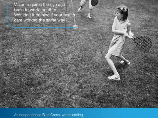 Independence Blue Cross Print Ad -  Tetherball
