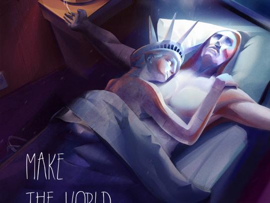Ukraine International Airlines Print Ad -  Statues