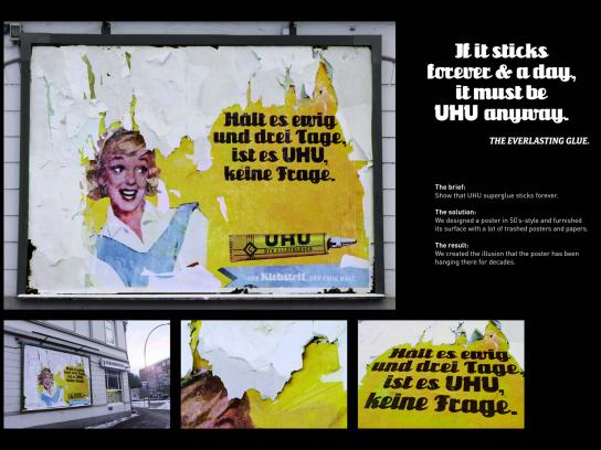 UHU Outdoor Ad -  Retro Billboard