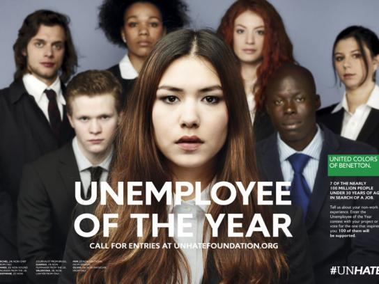 Benetton Print Ad -  Unemployee of the Year, 1