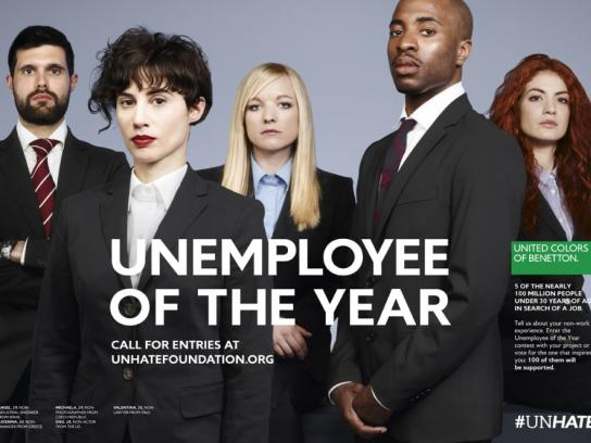 Benetton Print Ad -  Unemployee of the Year, 4