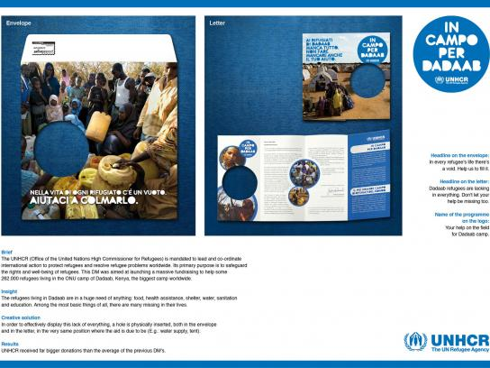 UNHCR Direct Ad -  Letter