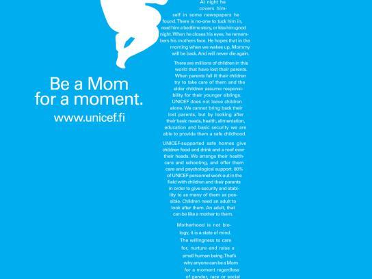 Unicef Print Ad -  Be a mom