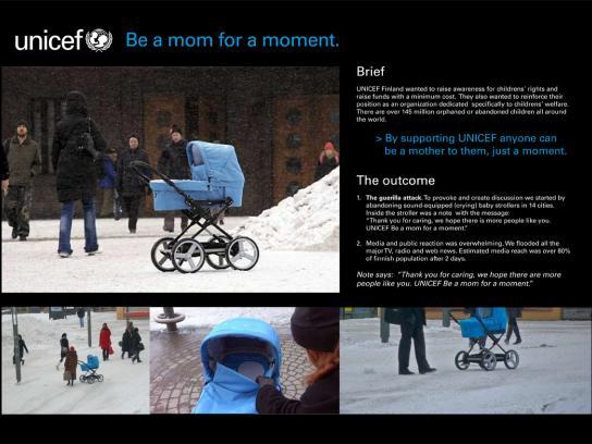 Unicef Ambient Ad -  Mom