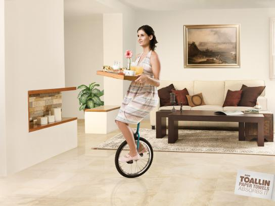 Don Toallin Print Ad -  Unicycle