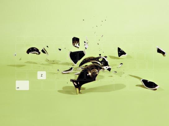 Ramasil Unigota Print Ad -  Black vase