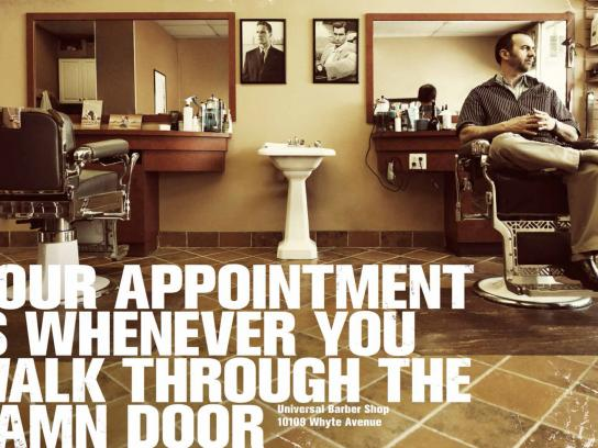 Universal Barber Shop Print Ad -  Appointment