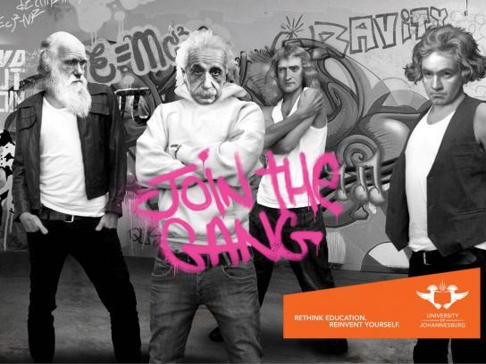 University of Johannesburg Print Ad -  Join the gang