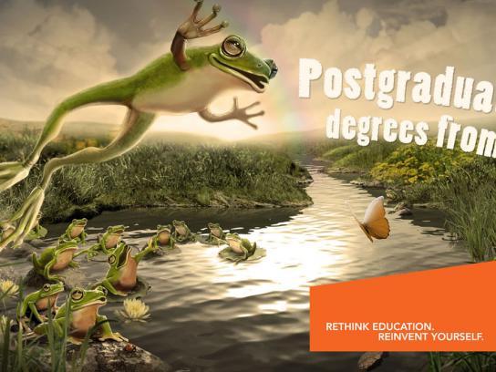 University of Johannesburg Print Ad -  Leap frog
