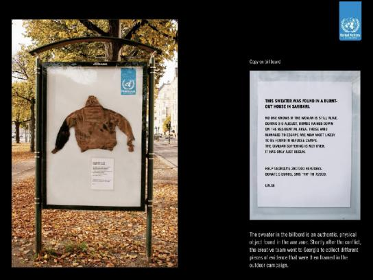 United Nations Outdoor Ad -  Sweater