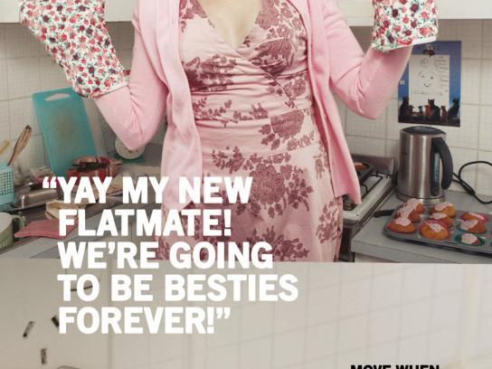 Unwired Print Ad -  Flatmate