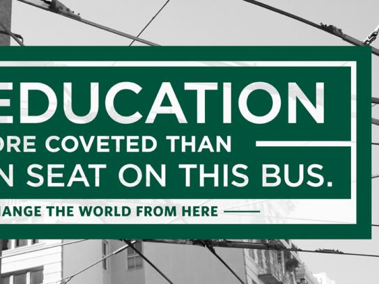 University of San Francisco Print Ad -  Bus