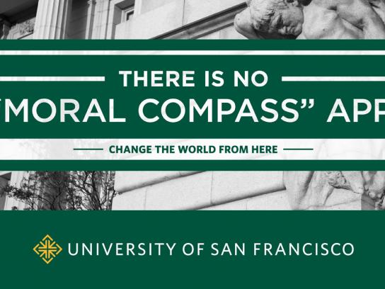 University of San Francisco Print Ad -  Moral Compass