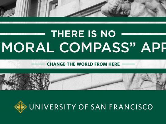 University of San Francisco Print Ad -  Moral Compass
