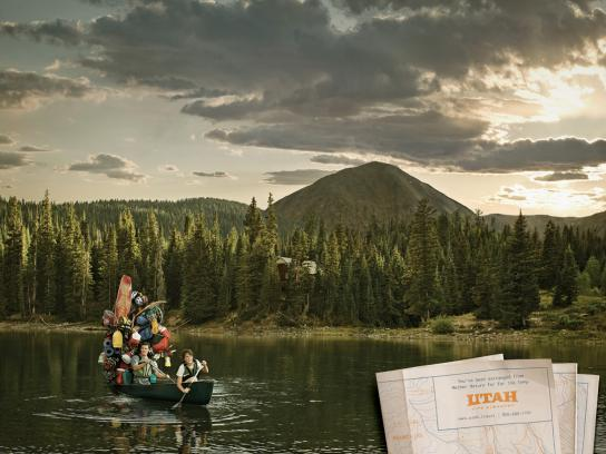 Utah Office of Tourism Print Ad -  La Sal Mountains