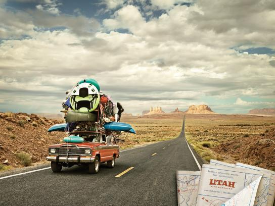 Utah Office of Tourism Print Ad -  Monument Valley