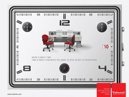 Vahume Print Ad -  Time, 3